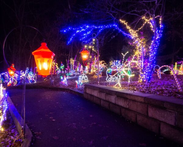 Path through Christmas Magic in York, Pennsylvania