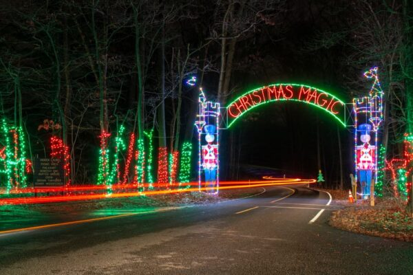 The entrance to Rocky Ridge's Christmas Magic in York, PA