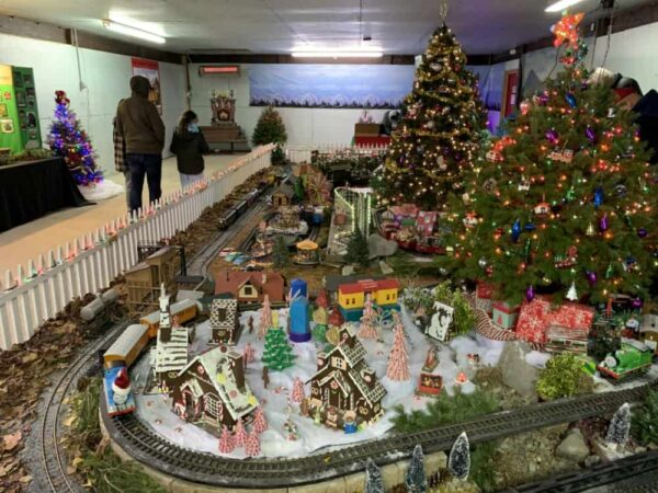 Model Train at Christmas Magic in York, PA