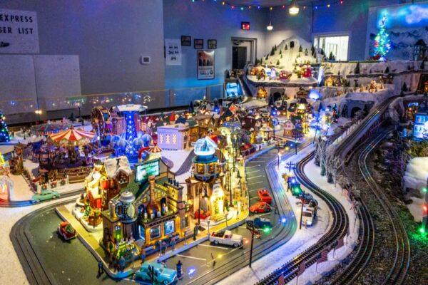 Model railroad at Santa's Gift Shop in Blair County PA