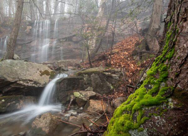 Waterfall on Paddy Run in Shickshinny Pennsylvania