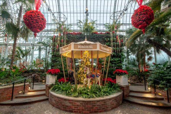 Palm Court during Christmas at Phipps in Pittsburgh, PA