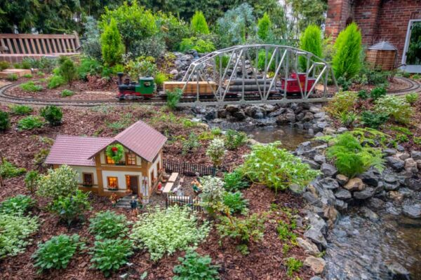 Garden Railroad at Phipps Conservatory in Pittsburgh Pennsylvania