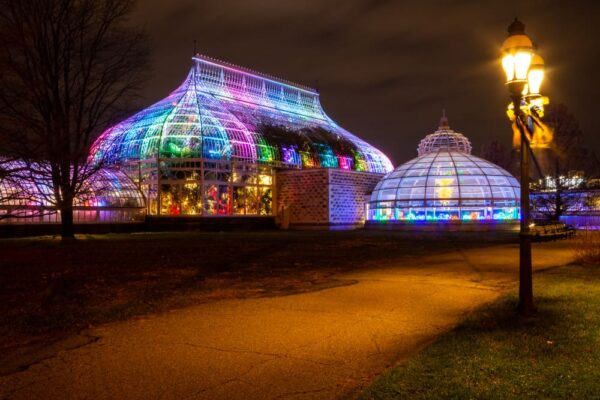 Exterior of Phipps Conservatory in Pittsburgh PA