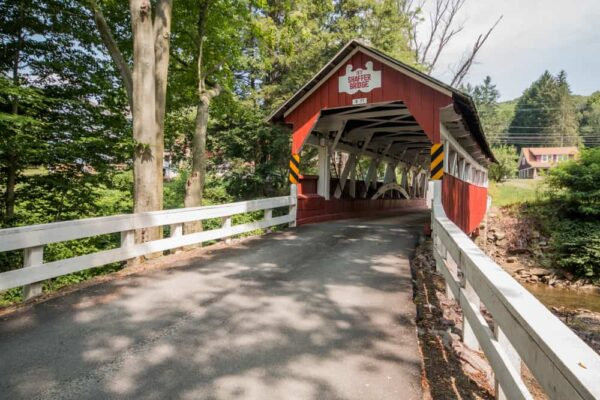The approach to Shaffer's Covered Bridge near Johnstown, PA