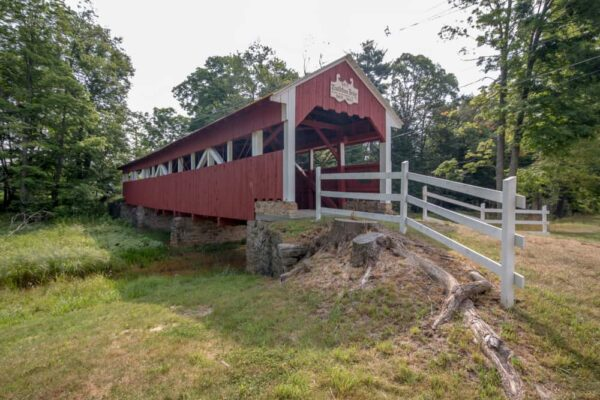 Trostletown Covered Bridge in Stoystown, Pennsylvania