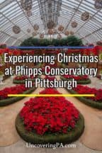 Christmas at Phipps Conservatory in Pittsburgh Pennsylvania