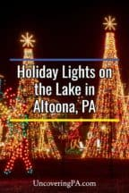 Holiday Lights on the Lake in Altoona, Pennsylvania