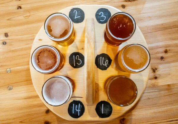 Flight at Black Monk Brewery in Erie PA