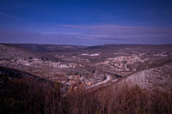Jim Thorpe from Flagstaff Mountain Park Overlook in PA