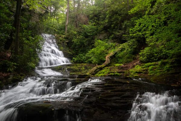 Rattlesnake Falls on State Game Lands 221 in Monroe County Pennsylvania