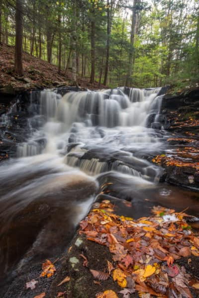 Rusty Falls in Loyalsock State Forest in Sullivan County Pennsylvania
