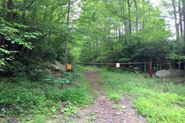 Gated Road on State Game Lands 221 in the Poconos