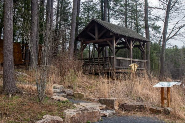 Pavilion on a Shaver's Creek hiking trail