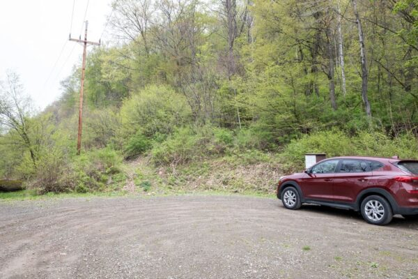 Parking for Dutchman Run Falls in the McIntyre Wild Area