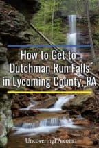 Dutchman Run Falls in Lycoming County, PA