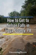 Nelson Falls in Tioga County, Pennsylvania