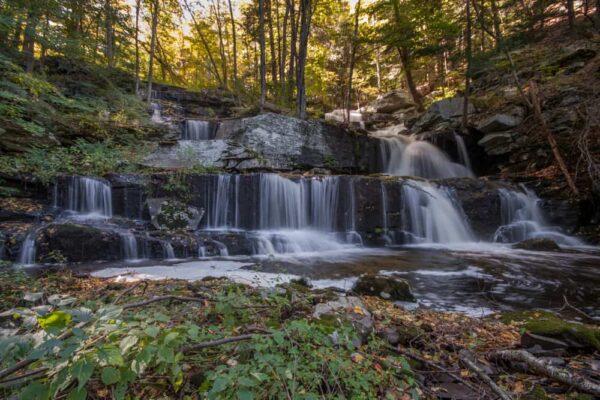 Sawkill Falls in Delaware State Forest in Pennsylvania