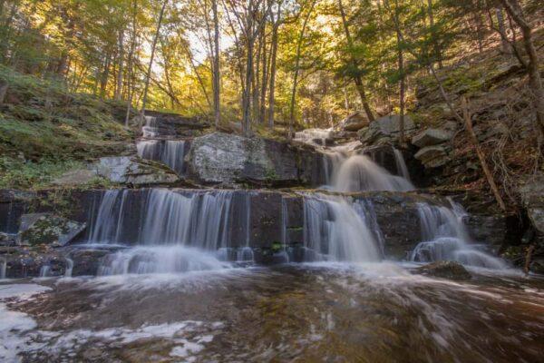 Sawkill Falls in Delaware State Forest in the Poconos