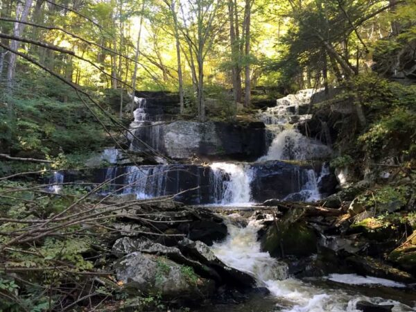 Sawkill Falls in the Poconos Delaware State Forest