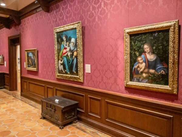 The art gallery in the Frick Museum in Pittsburgh, PA