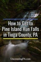 Pine Island Run Falls in Tioga County Pennsylvania