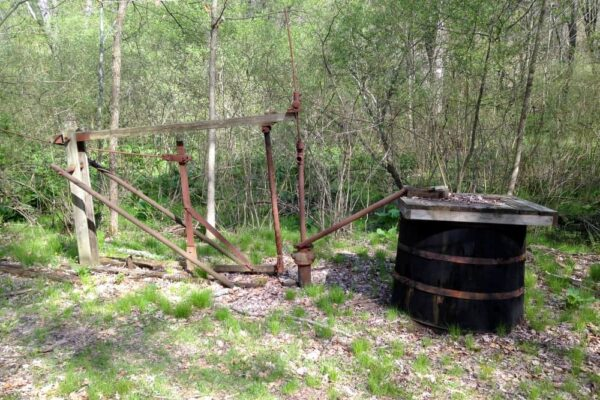 Old oil equipment in Oil Creek State Park
