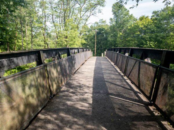 Iron bridge at Cassandra Overlook in Pennsylvania