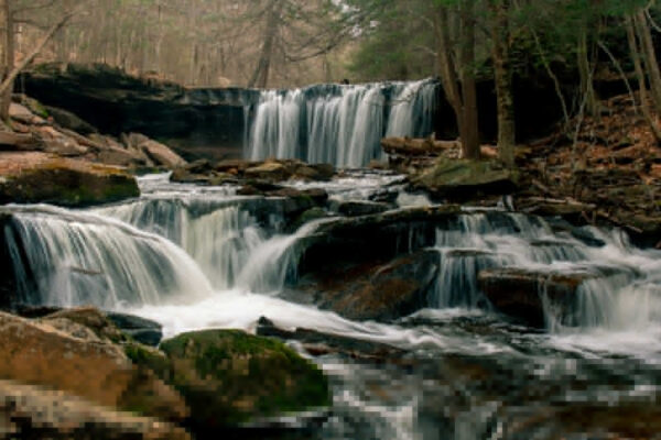 Puzzle of Ricketts Glen Waterfall