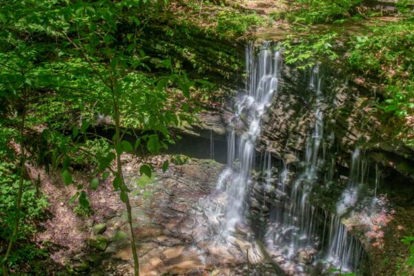 Pioneer Falls in Oil Creek State Park in Pennsylvania