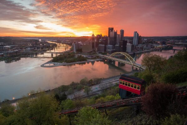 Puzzle of the Duquesne Incline in Pittsburgh Pennsylvania