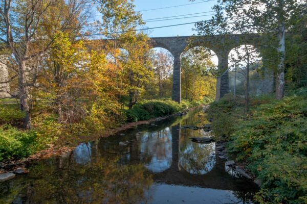 The Starrucca Viaduct passing over the Starrucca Creek in Lanesboro PA