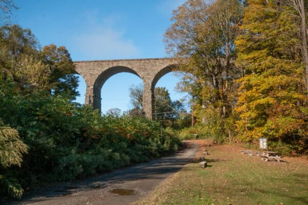 The Starrucca Viaduct from Luciana Park in Lanesboro, PA
