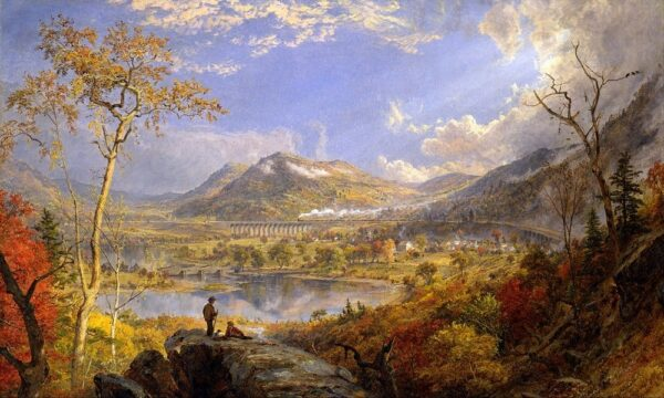 An 1865 painting of the Starrucca Viaduct by Jasper Francis Cropsey.