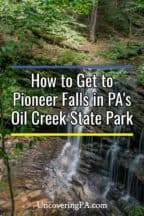 Pioneer Falls in Pennsylvania's Oil Creek State Park