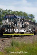 Train viewing near Altoona PA