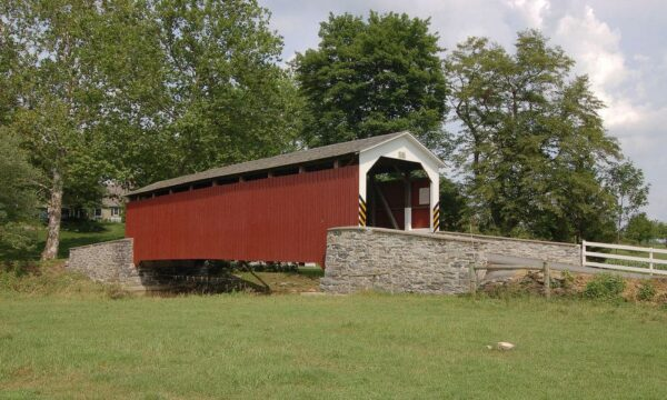 Erb's Mill Covered Bridge near Lititz, PA
