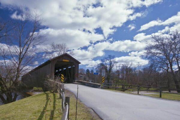 Hunsecker's Mill Covered Bridge in Lancaster County PA