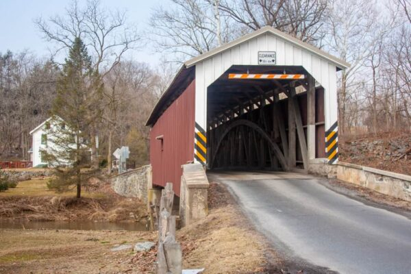 Neff's Mill Covered Bridge in Lancaster County Pennsylvania
