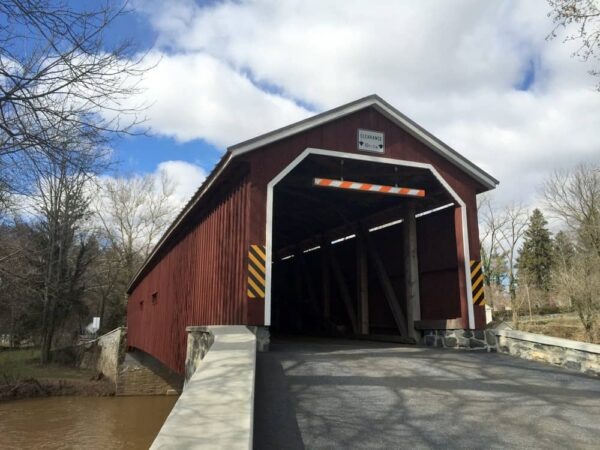 Pinetown Covered Bridge near Oregon, PA