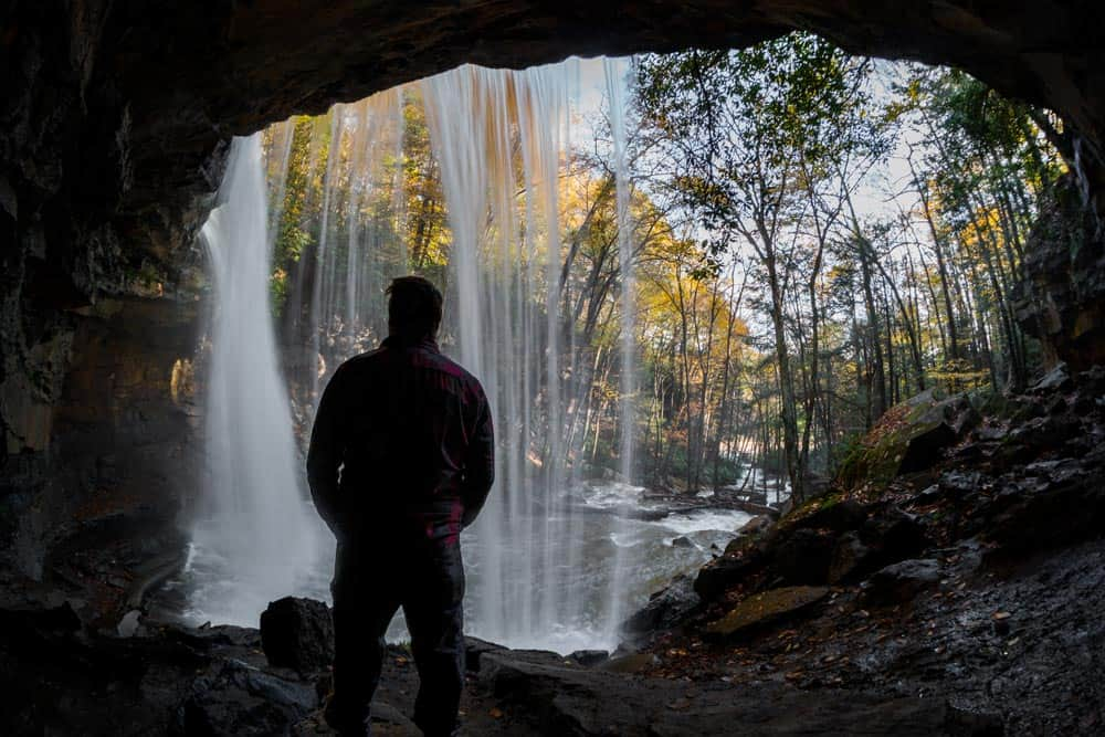 Cucumber Falls is a waterfall in PA you can go behind