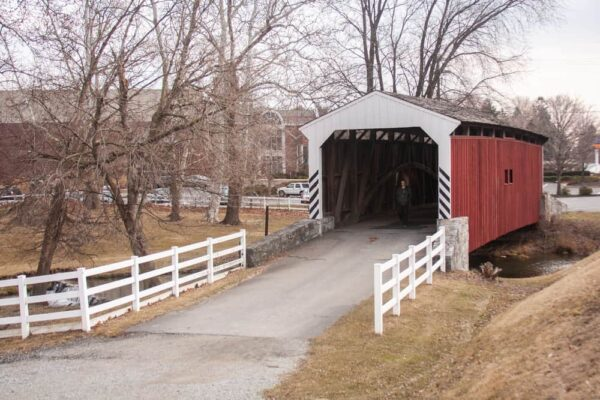Willow Hill Covered Bridge on Route 30 in Lancaster County PA