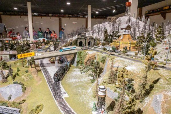 Holiday season display at the Choo Choo Barn in Strasburg PA