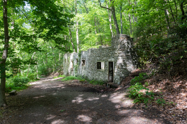 Ruins of the Colonial Springs Bottling Plant in Valley Forge National Historical Park