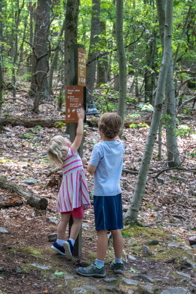 Kids ringing a bell at Mount Misery in Chester County PA