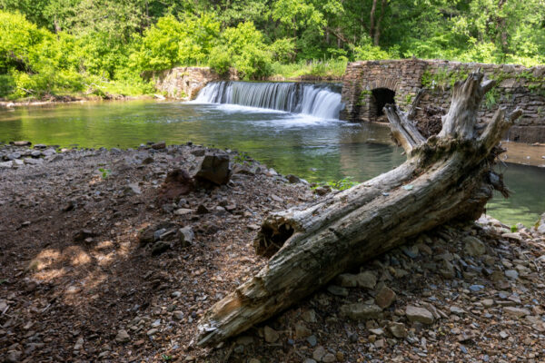 Dam on Valley Creek in Valley Forge PA