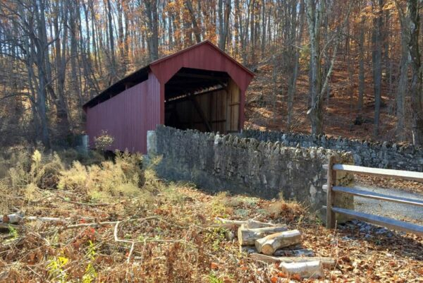 Mary Ann Pyle Covered Bridge on the Laurels Preserve