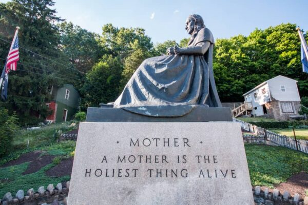 Whistler's Mother Statue in Ashland PA