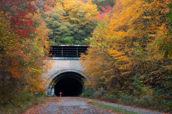 Sideling Hill Tunnel on the Abandoned PA Turnpike in the fall