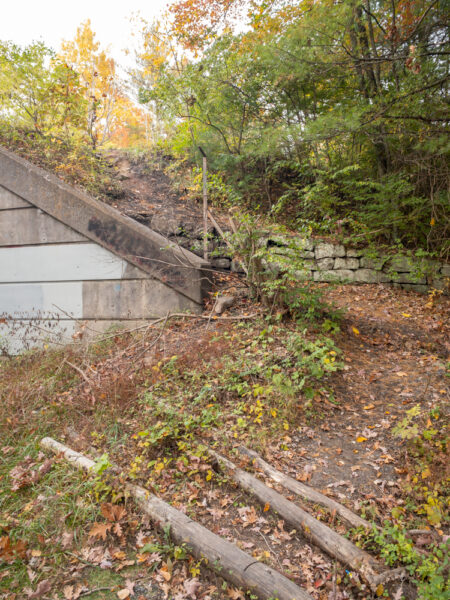 Path to the Abandoned PA Turnpike in Fulton County Pennsylvania